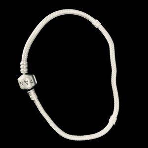 Pandora sterling silver bracelet signature barrel